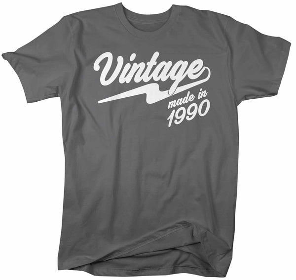 Men's Vintage T Shirt 1990 Birthday Made In Shirt 30th Birthday Tee Retro Gift Idea Vintage Tee-Shirts By Sarah