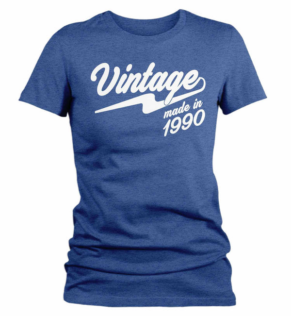 Women's Vintage T Shirt 1990 Birthday Made In Shirt 30th Birthday Tee Retro Gift Idea Vintage Tee-Shirts By Sarah