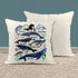 "Whale Pillow Cover Watercolor Whale Throw Pillow Types Of Whales Shirt Illustrated Whale Gift Idea Nautical Decor 15"" Square-Shirts By Sarah"
