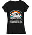 Women's V-Neck Funny Boating T Shirt Weekend Forecast Shirt Boating Chance Drinking Shirt Cabin Cruiser Shirt Boater Gift-Shirts By Sarah