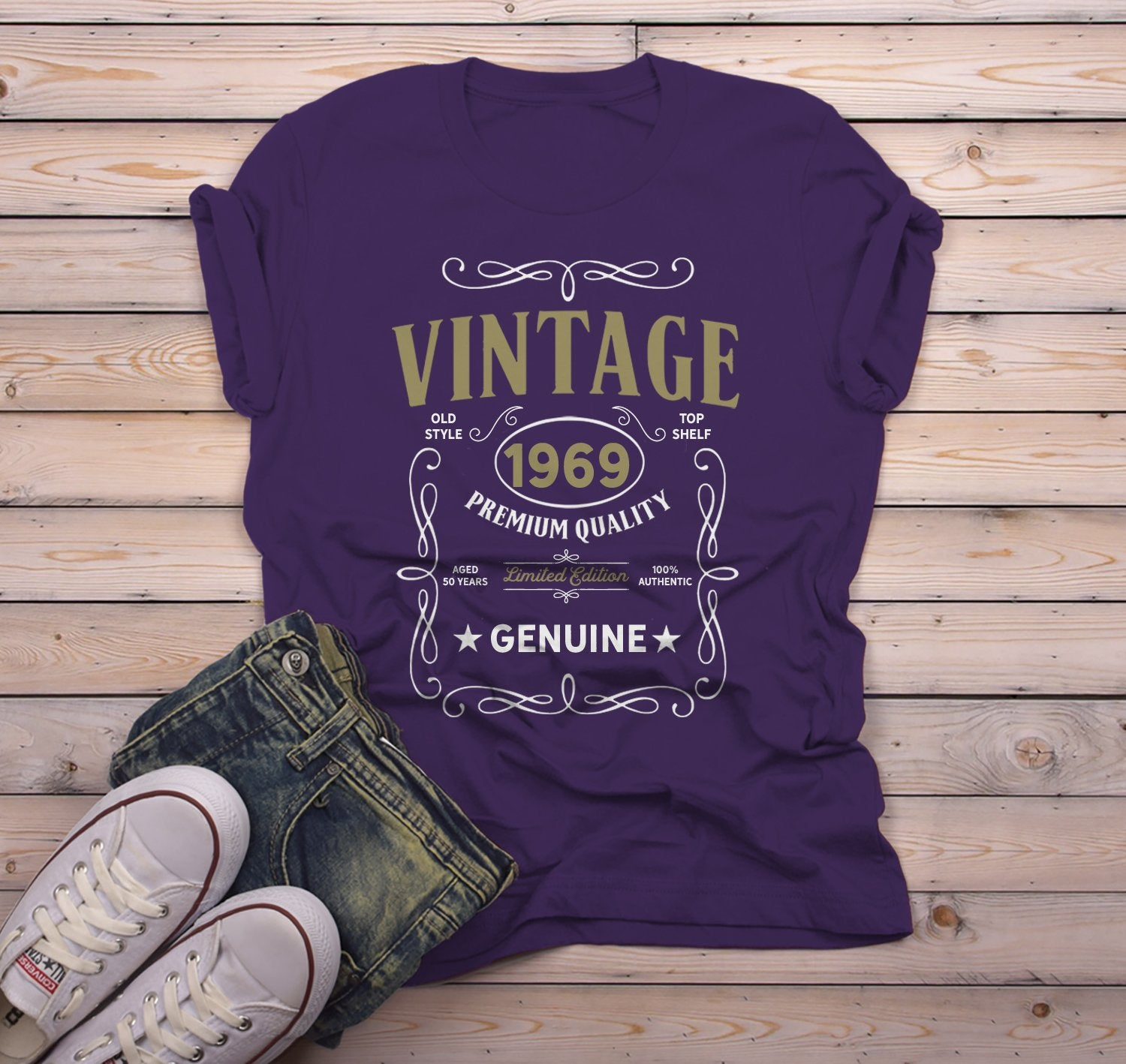 Men/'s Vintage 1969 50th Birthday T-Shirt Classic Fifty Shirt Gift Idea 50th Birt