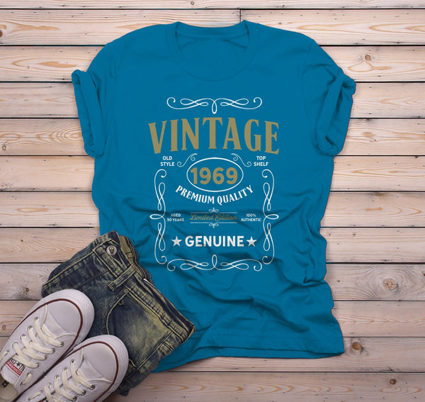 Men's Vintage 1969 50th Birthday T-Shirt Classic Fifty Shirt Gift Idea 50th Birthday Shirts Vintage Tee Vintage Shirt-Shirts By Sarah