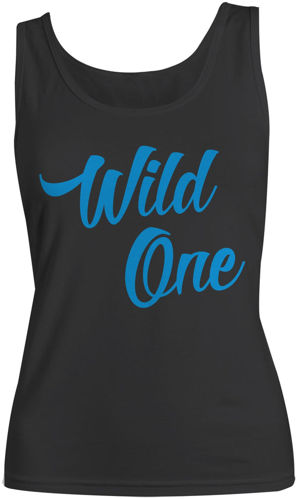Shirts By Sarah Women's Mild One Wild One Best Friend Cotton Tank Top (Wild One)-Shirts By Sarah