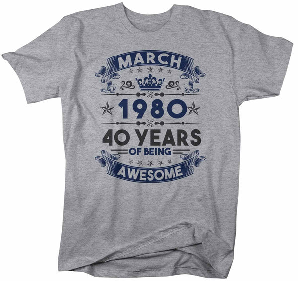 Men's Custom Birthday T Shirt Years Awesome Custom Birthday Month Shirt 40th Birthday 50th Birthday 30th Birthday 60th Birthday Shirt-Shirts By Sarah