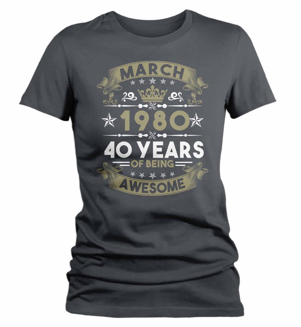Women's Custom Birthday T Shirt Years Awesome Custom Birthday Month Shirt 40th Birthday 50th Birthday 30th Birthday 60th Birthday Shirt-Shirts By Sarah