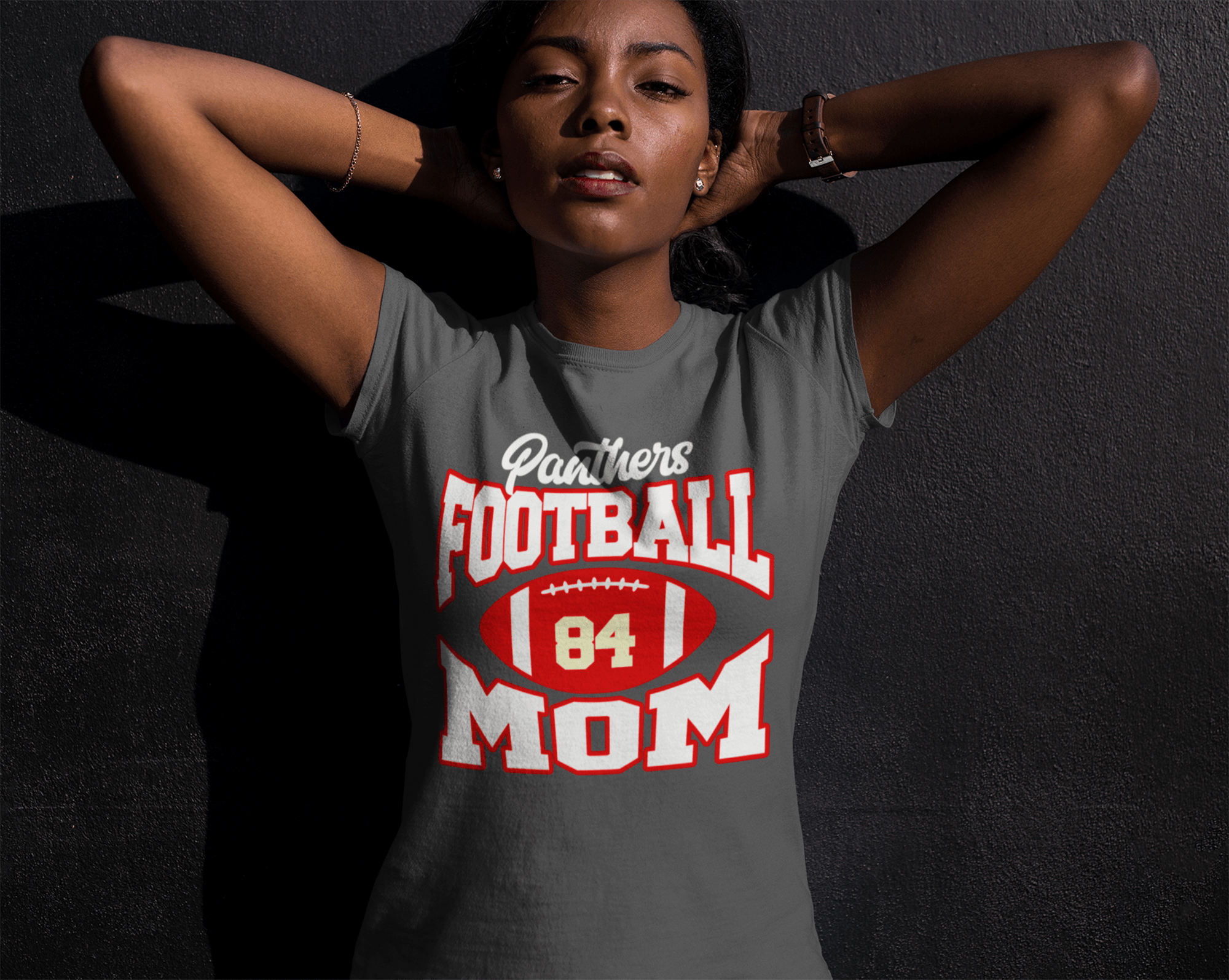Panthers Custom Personalized Name /& Number Woman/'s T-shirt