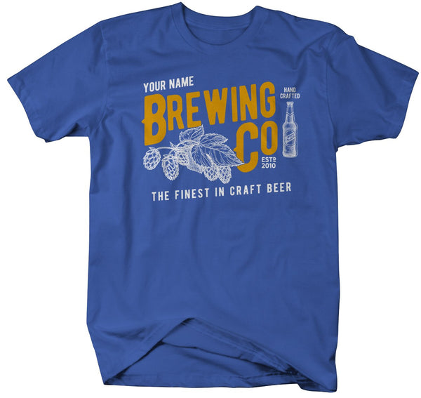 Men's Personalized Brewing Co T-Shirt Brewers Shirt Brew Master Brewery Tee-Shirts By Sarah