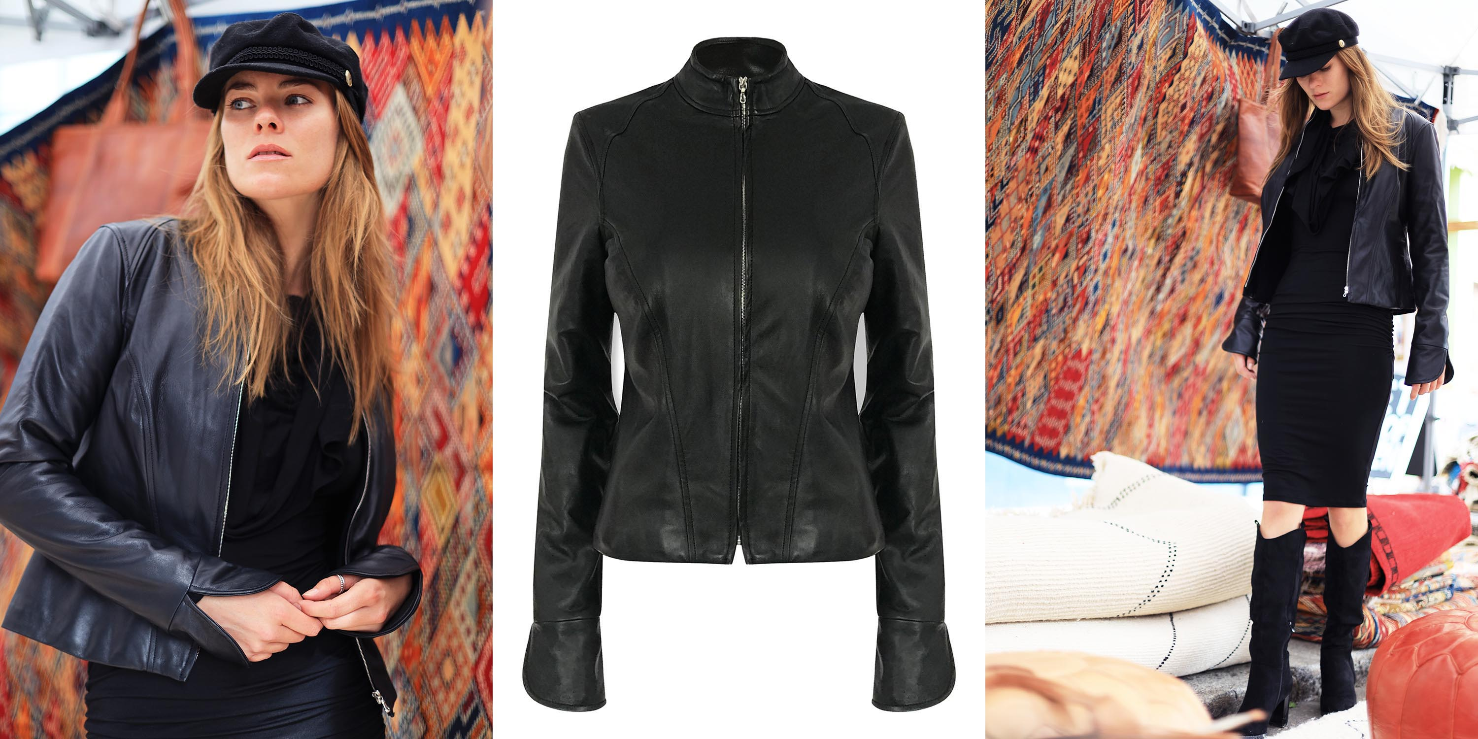 LEATHER FITTED BIKER JACKET
