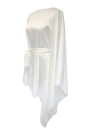 ASYMMETRICAL CAPE DRESS