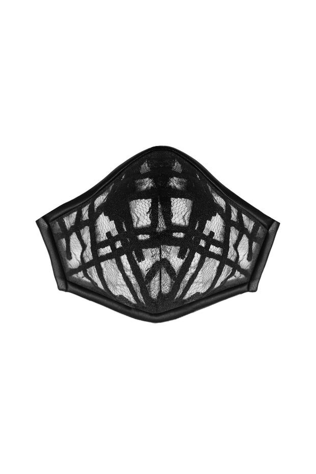 GEOMETRIC LACE FASHION MASK COVER