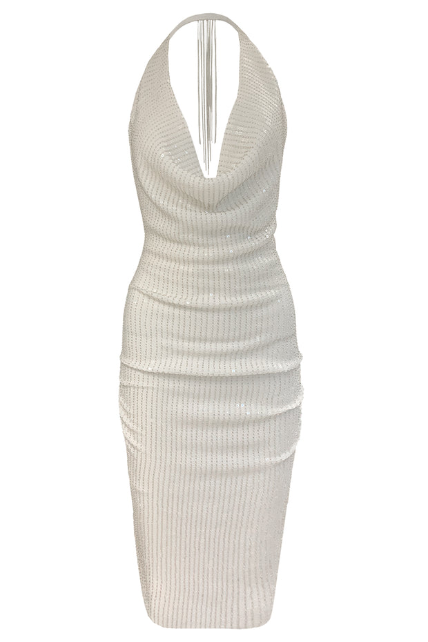 SPORTY DRAPE DRESS
