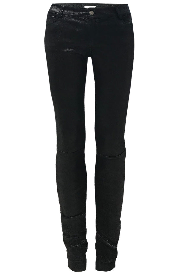 SHINY WASHABLE STRETCH LEATHER LEGGINGS