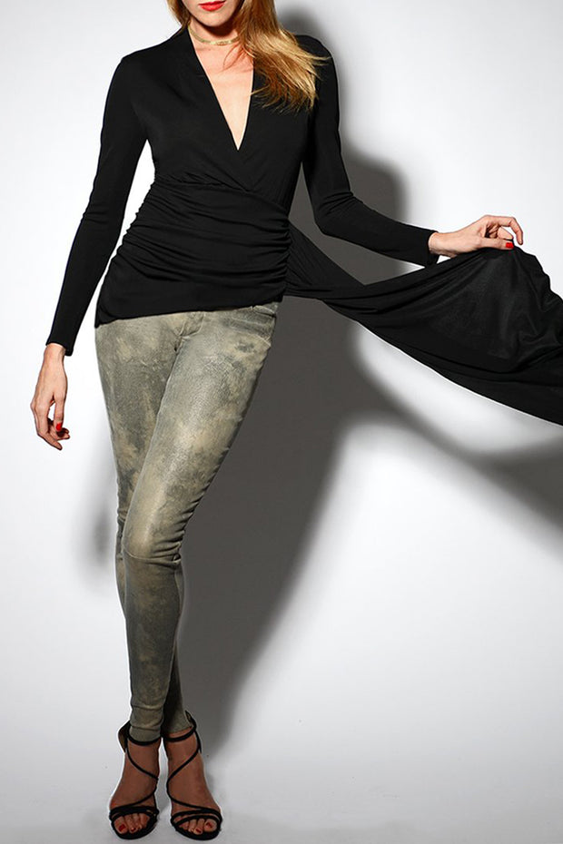 WASHABLE STRETCH LEATHER LEGGINGS