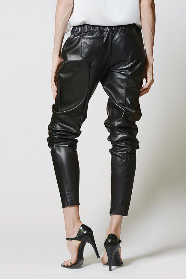 LEATHER JOGGERS