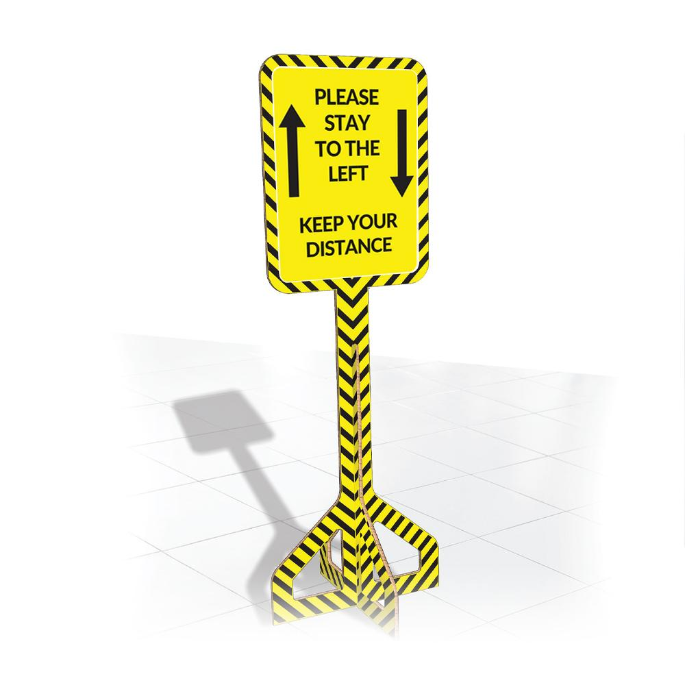 Indoor Floor Directional Sign