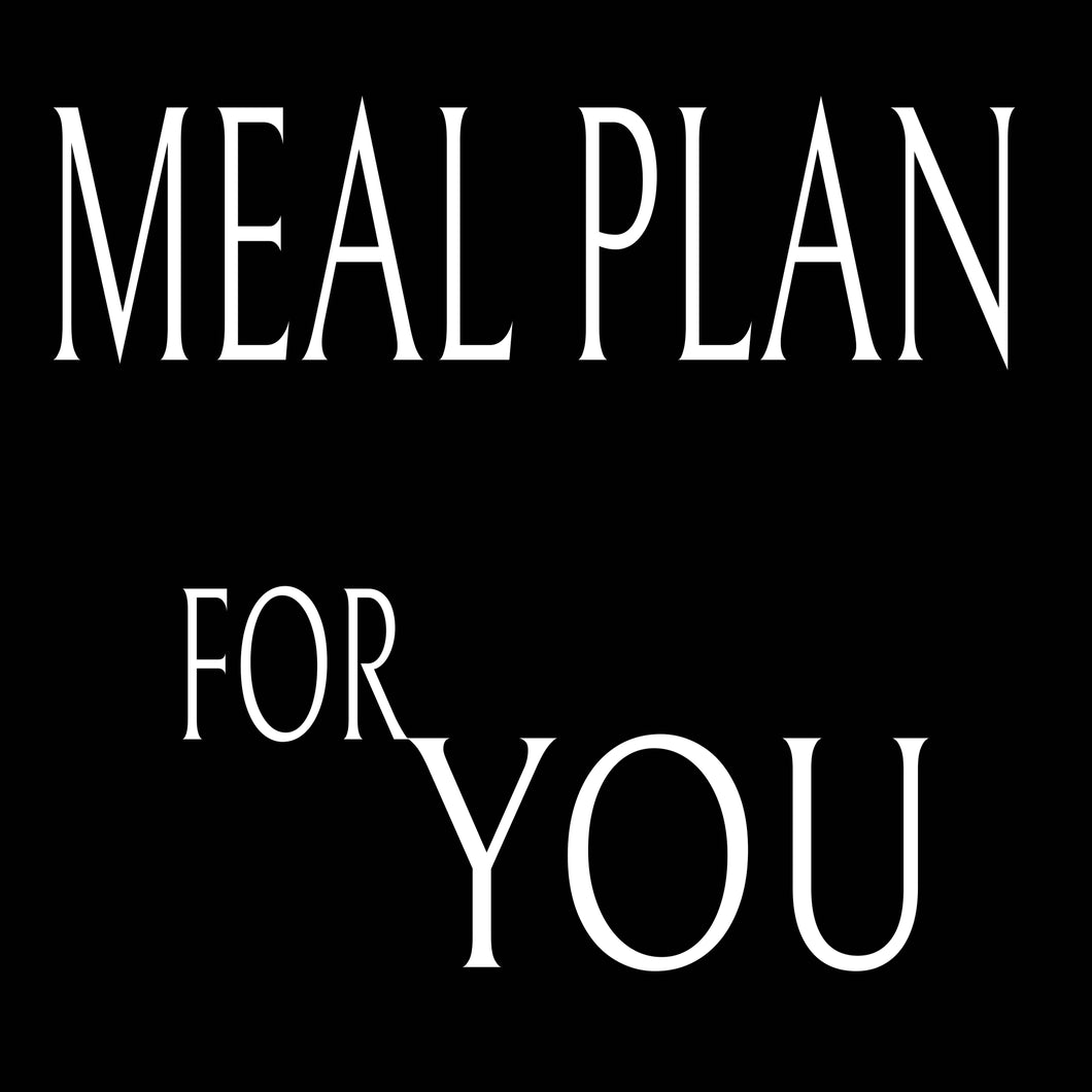 Customised Naturopathic Meal Plan PDF