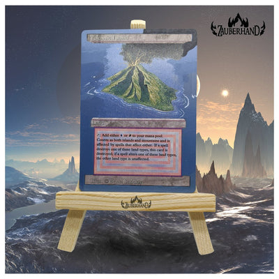 Altered Art Duallands Revised - Volcanic Island - Zauberhand
