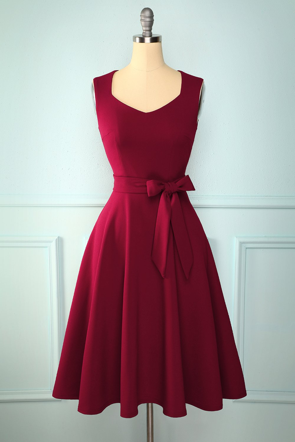 Robe bordeaux douce