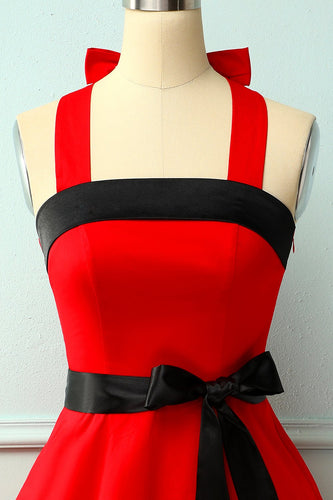 Robe pin-up licou rouge / noir