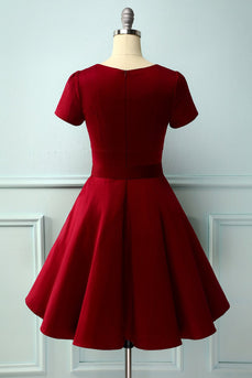 Robe vintage bordeaux