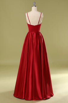 Robe en satin bordeaux