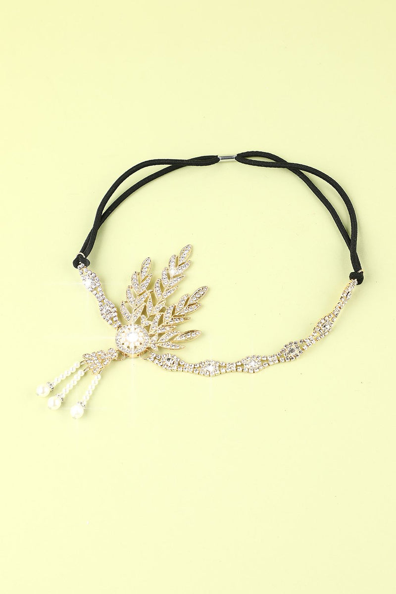 Charger l'image dans la galerie, White Beaded Pearls 1920s Flapper Headband