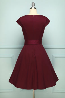 Robe trapeze bordeaux
