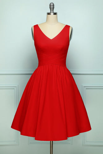 Robe sans manches rouge