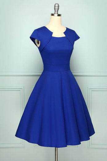 Robe vintage bleu royal
