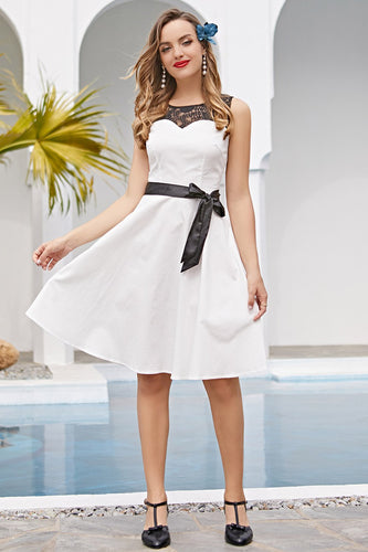 Robe Swing Blanche Vintage