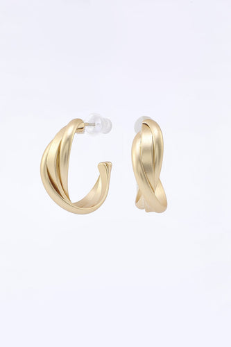 Boucles d'oreilles golden simple style