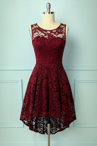 Asymmetrical Burgundy Lace - ZAPAKA