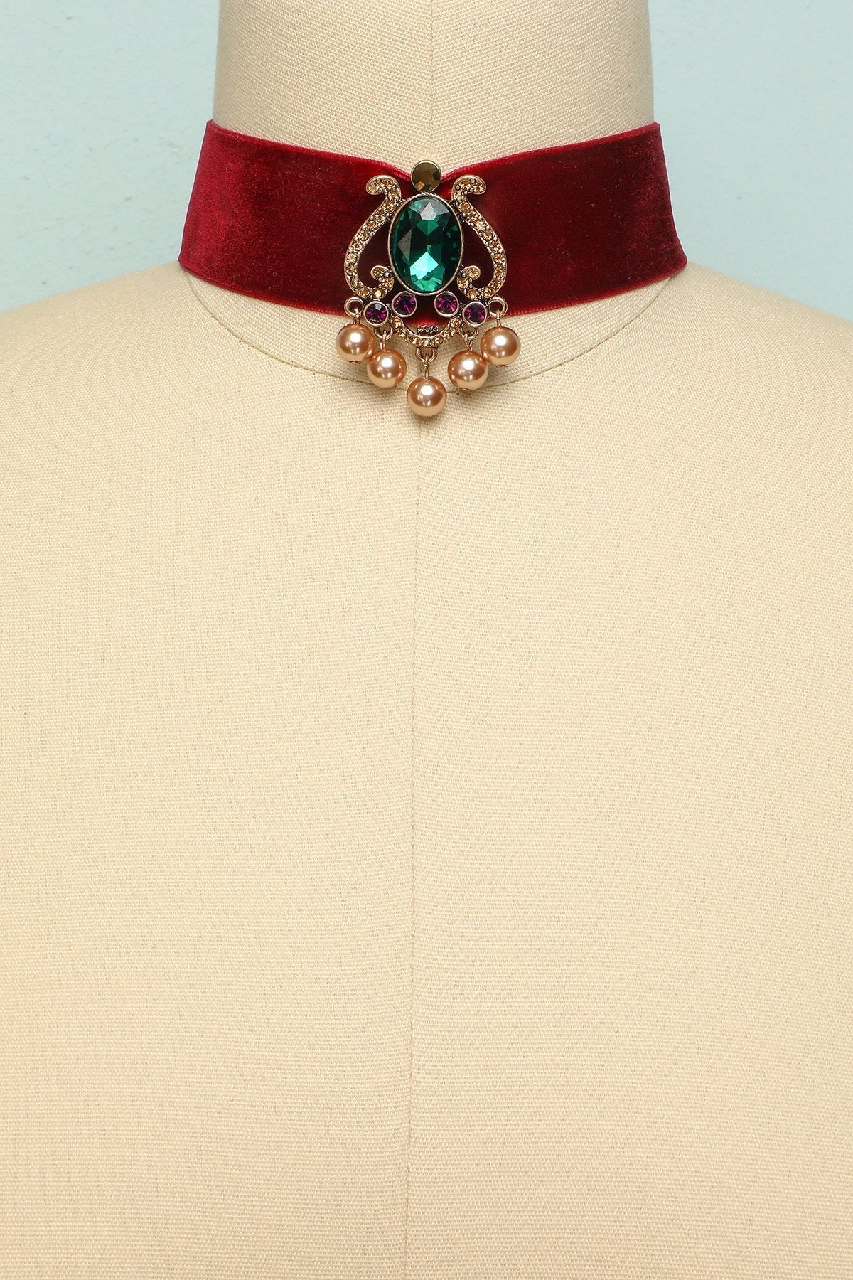 Red Velvet Necklace - ZAPAKA