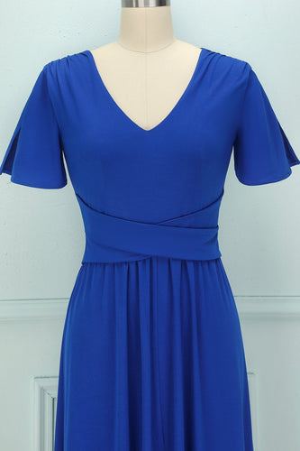Royal Blue Long Dress - ZAPAKA