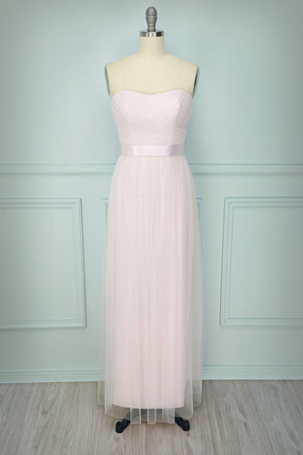 Strapless Pink Dress - ZAPAKA
