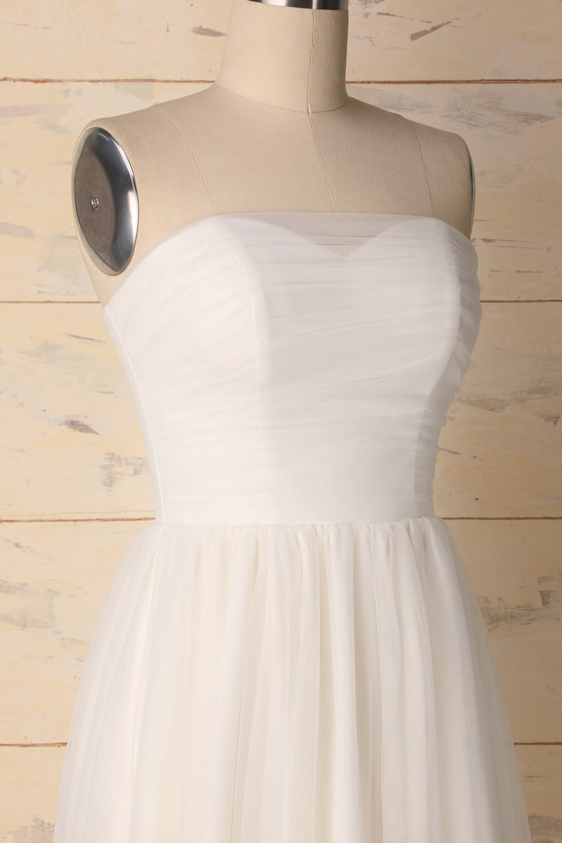Charger l'image dans la galerie, White Sweetheart Dress - ZAPAKA