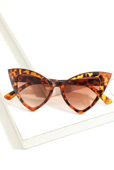 Occhiali da sole vintage Cat Eye Leopard