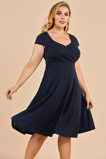 Abito swing vintage Navy Plus Size