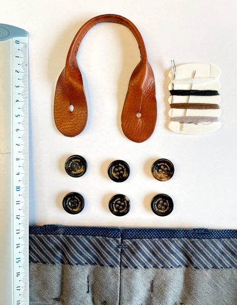 How to sew buttons for suspenders on pants