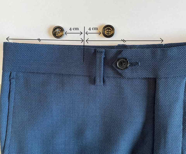 How to attach and sew suspender buttons to pants