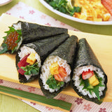 Tasty Sushi seaweed with bamboo rolling curtain