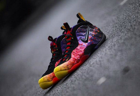 white foamposite asteroid gradient - photo #30