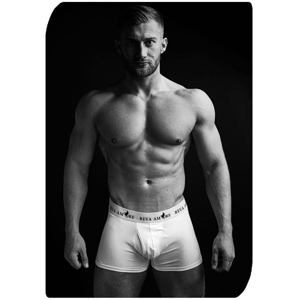 White Organic Cotton Trunks │ Triple Package