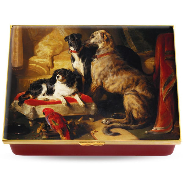 'Hector, Nero & Dash with the parrot, Lory' by Sir Edwin Landseer Prestige Box