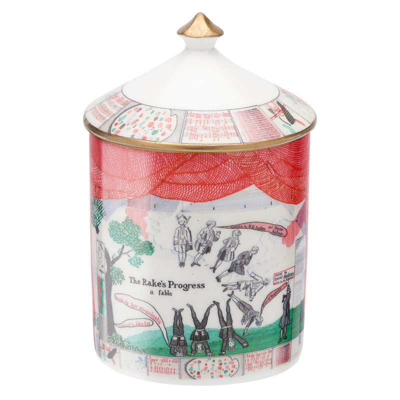 Drop curtain lidded candle by David Hockney