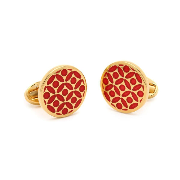 Rose Red & Gold Cufflinks