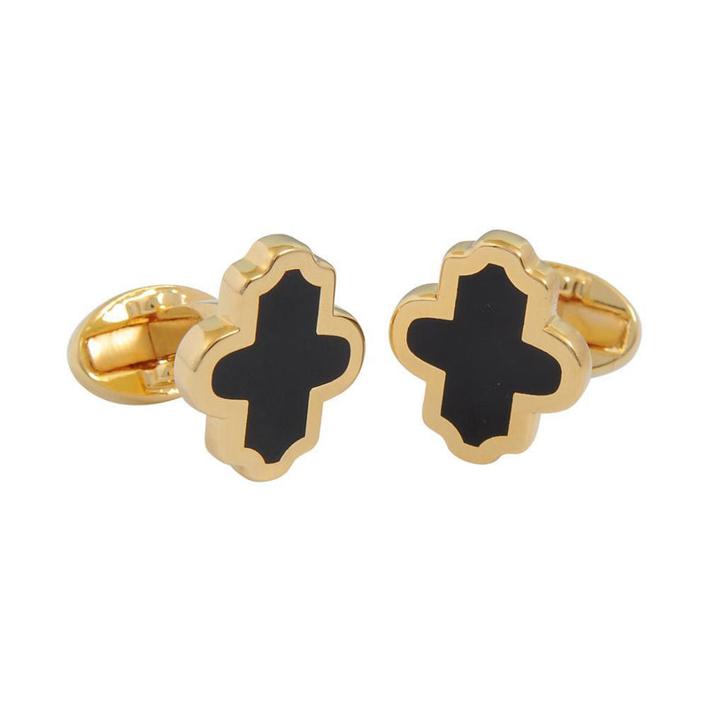 Single Agama Black & Gold Cufflinks