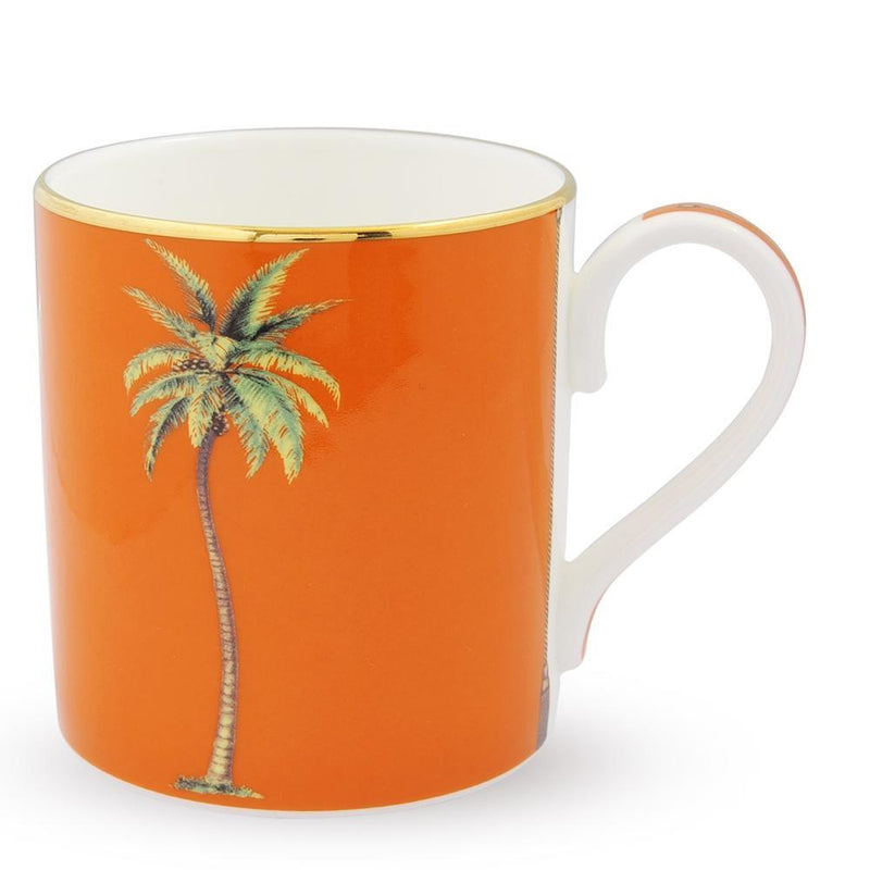 Palm Mug On Orange