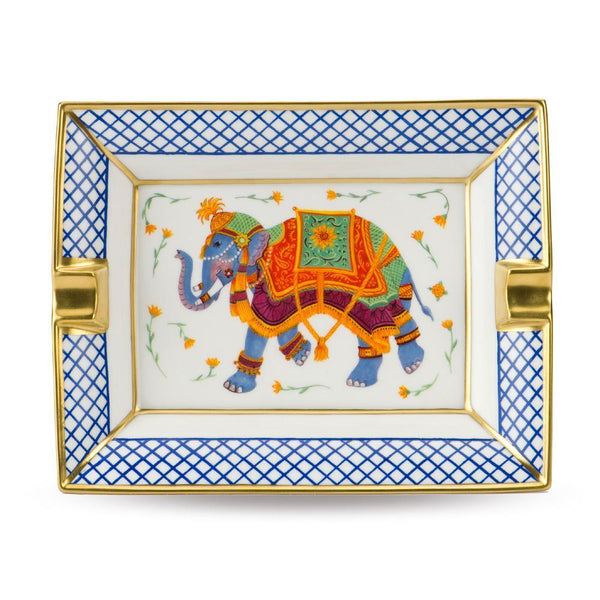 Ceremonial Indian Elephant White Ashtray