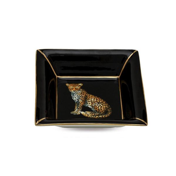 Leopard Square Trinket Tray